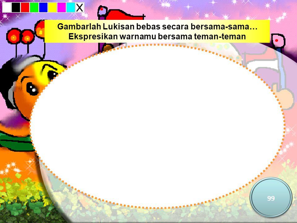Gambarlah Lukisan bebas secara bersama-sama… Ekspresikan warnamu bersama teman-teman 99