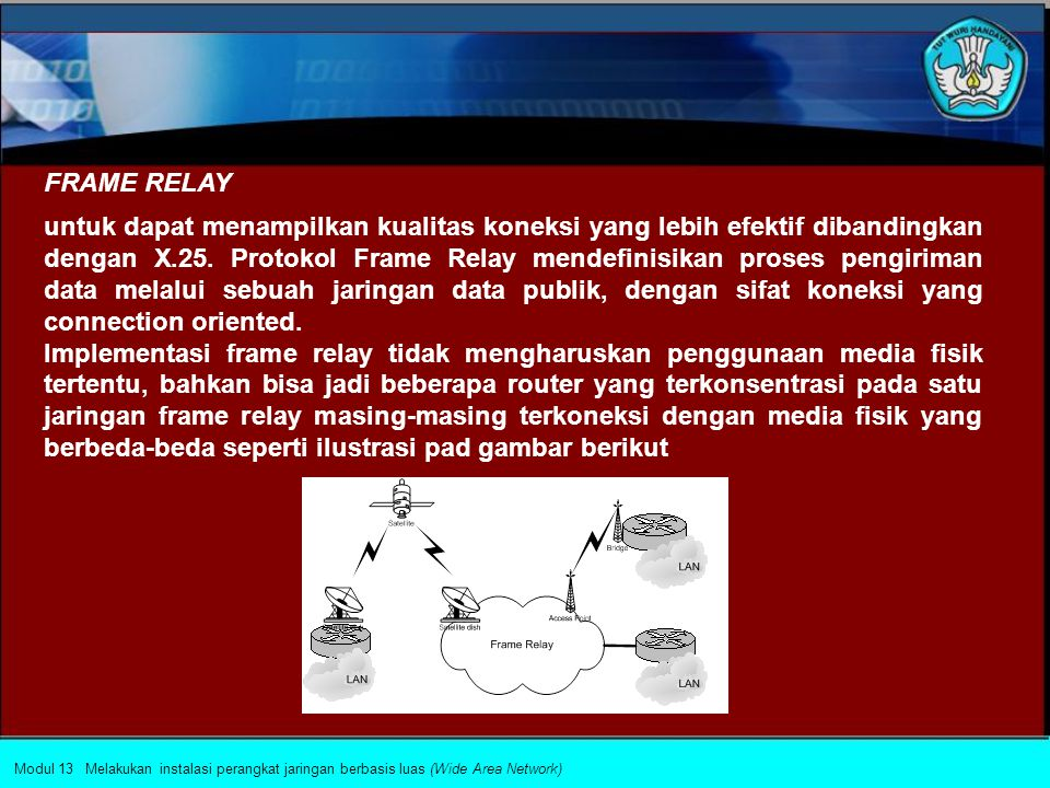 Implementasi penggunaan protokol X.25 pada jaringan PVC (Permanent Virtual Circuit) di router dapat dilakukan dengan cara: 1. Mendefinisikan jenis enk