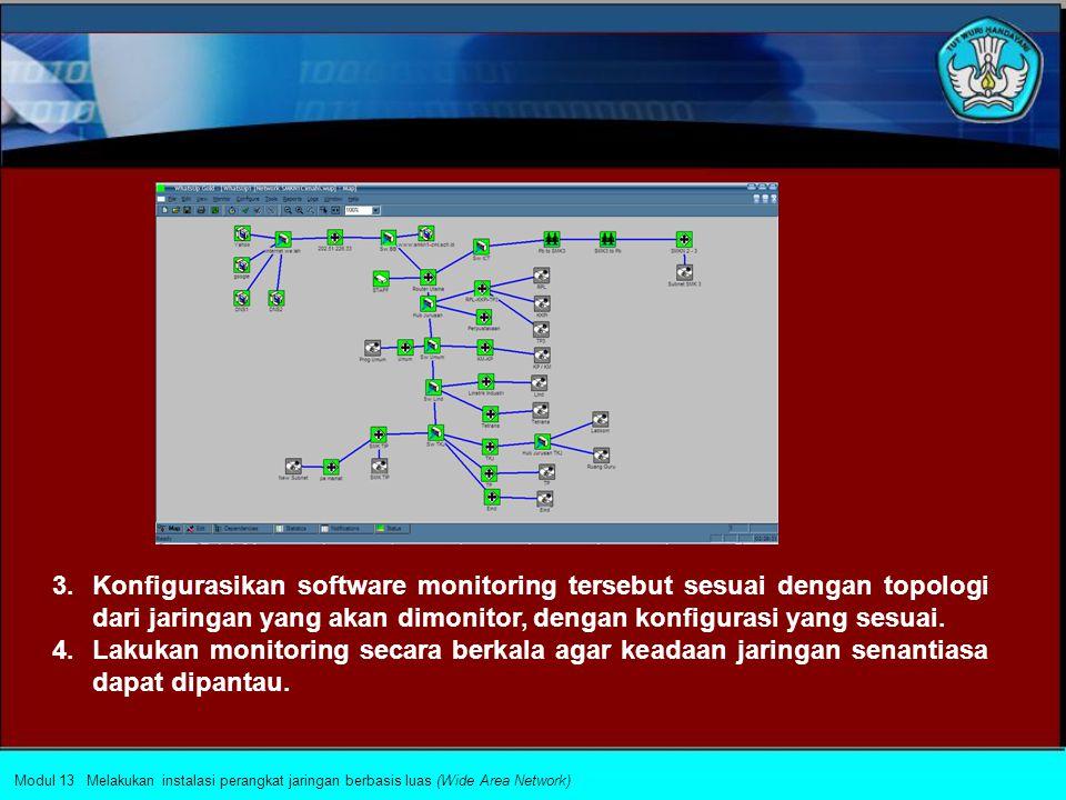 Upaya penjaminan kualitas layanan jaringan komputer akan terpelihara apabila pengelola jaringan dapat memastikan kondisi jaringan setiap saat. Upaya i