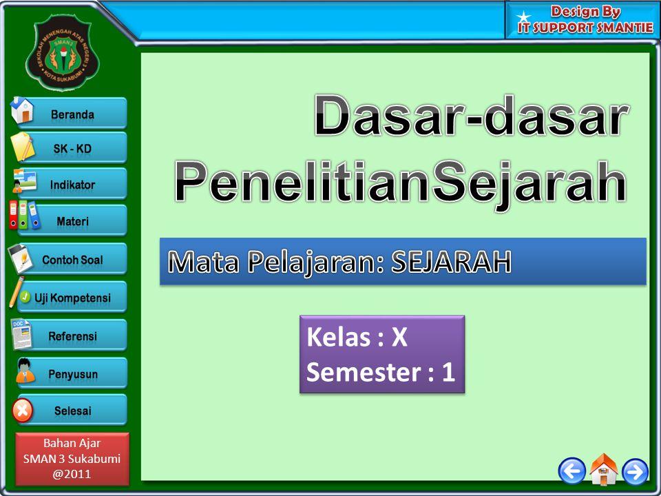 Bahan Ajar SMAN 3 Sukabumi @2011 Bahan Ajar SMAN 3 Sukabumi @2011 Kelas : X Semester : 1 Kelas : X Semester : 1