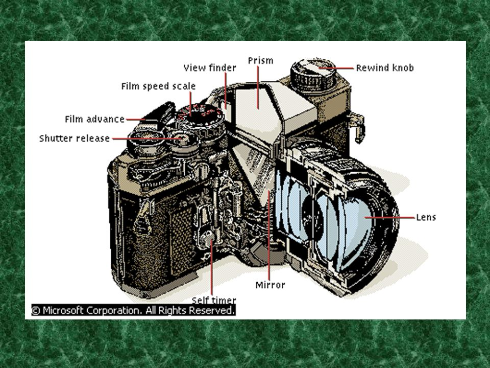 The photographer, or an automatic mechanism in some cameras, must adjust the distance between the lens and the film so that the plane of focus falls exactly where the film lies, making the resulting image appear in focus.
