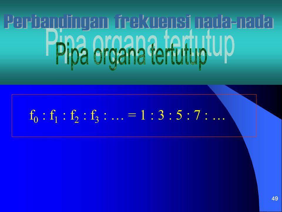 49 f 0 : f 1 : f 2 : f 3 : … = 1 : 3 : 5 : 7 : …