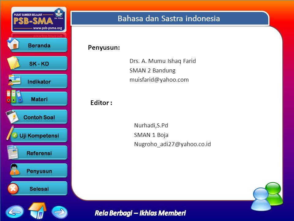 Bahasa dan Sastra indonesia Drs.A.