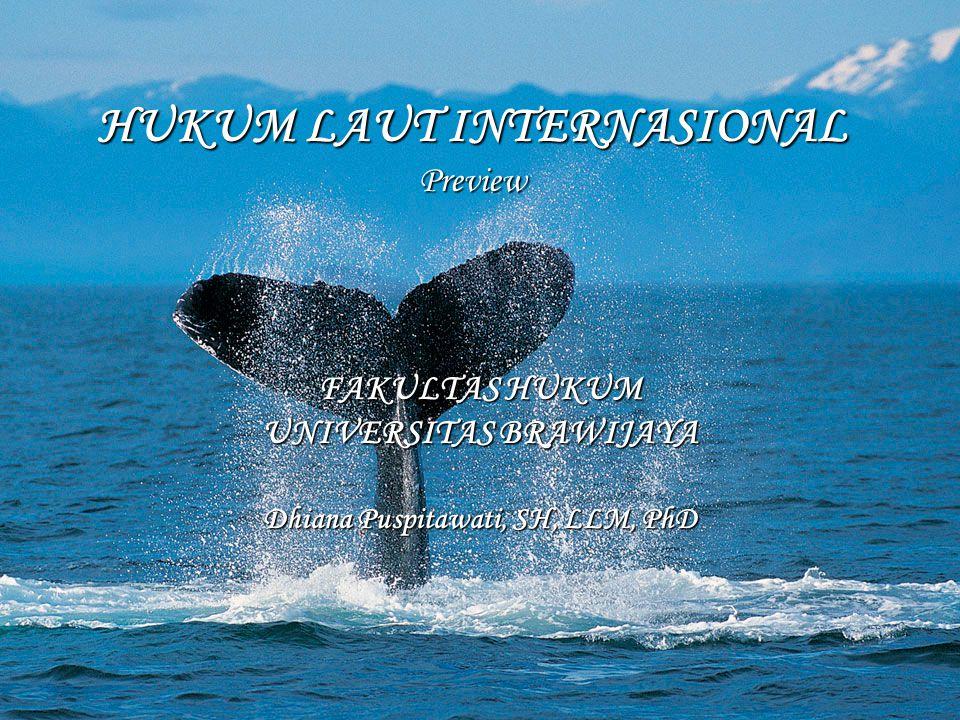 HUKUM LAUT INTERNASIONAL Preview FAKULTAS HUKUM UNIVERSITAS BRAWIJAYA Dhiana Puspitawati, SH, LLM, PhD