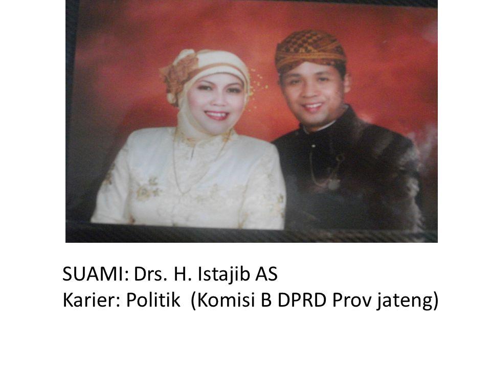 SUAMI: Drs. H. Istajib AS Karier: Politik (Komisi B DPRD Prov jateng)