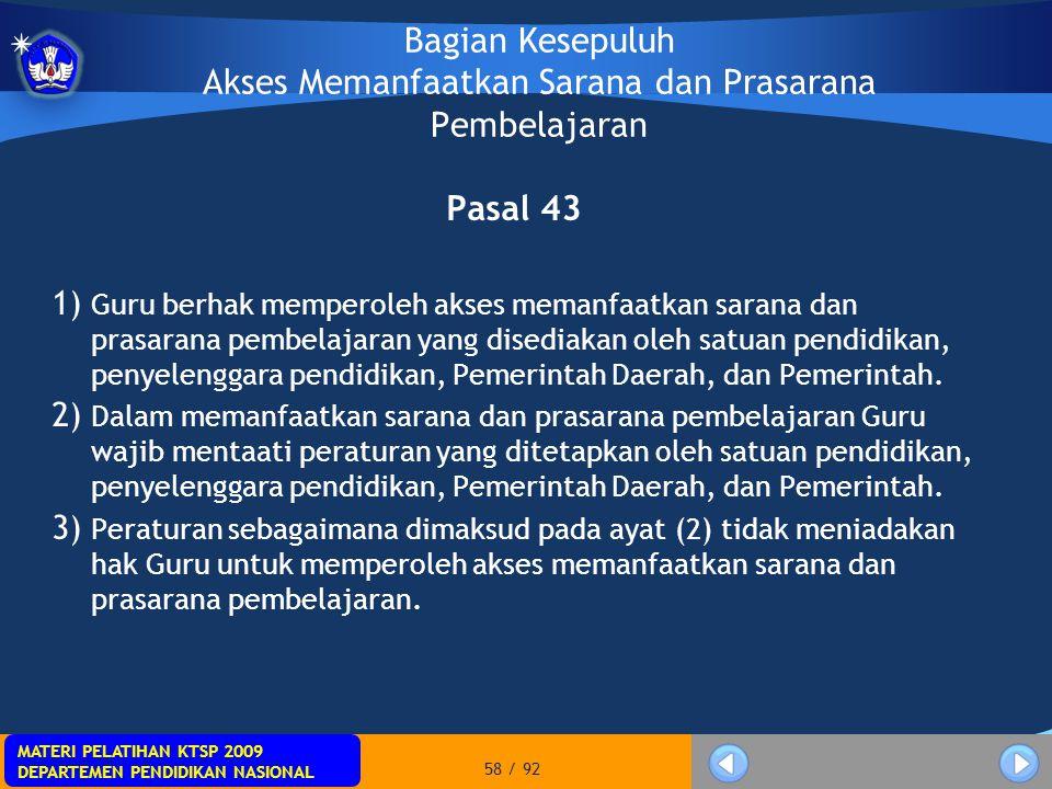 MATERI PELATIHAN KTSP 2009 DEPARTEMEN PENDIDIKAN NASIONAL MATERI PELATIHAN KTSP 2009 DEPARTEMEN PENDIDIKAN NASIONAL 58 / 92 Bagian Kesepuluh Akses Mem