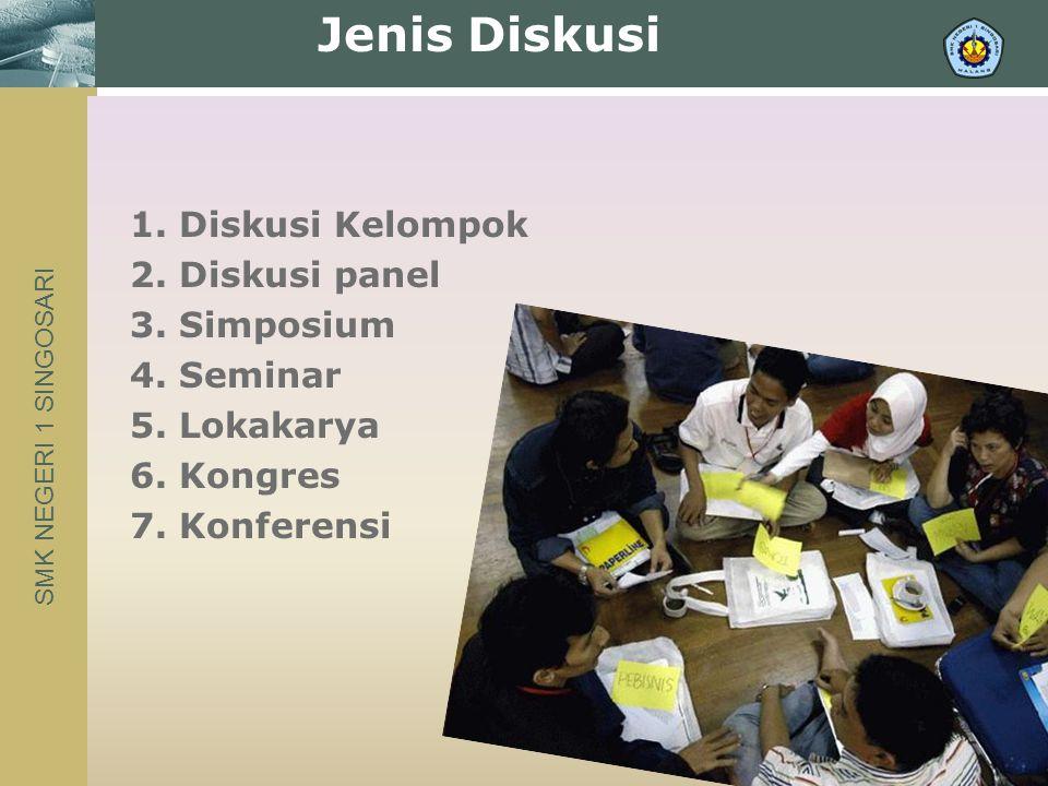 SMK NEGERI 1 SINGOSARI 1. Diskusi Kelompok 2. Diskusi panel 3.