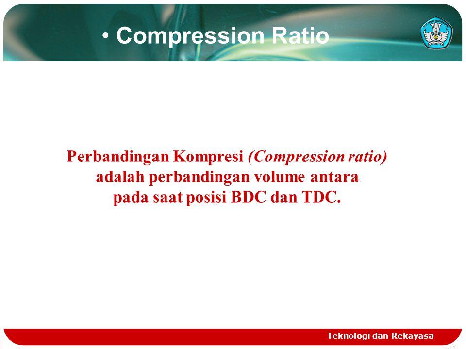 Teknologi dan Rekayasa Length of Stroke Diameter of bore Stroke Volume