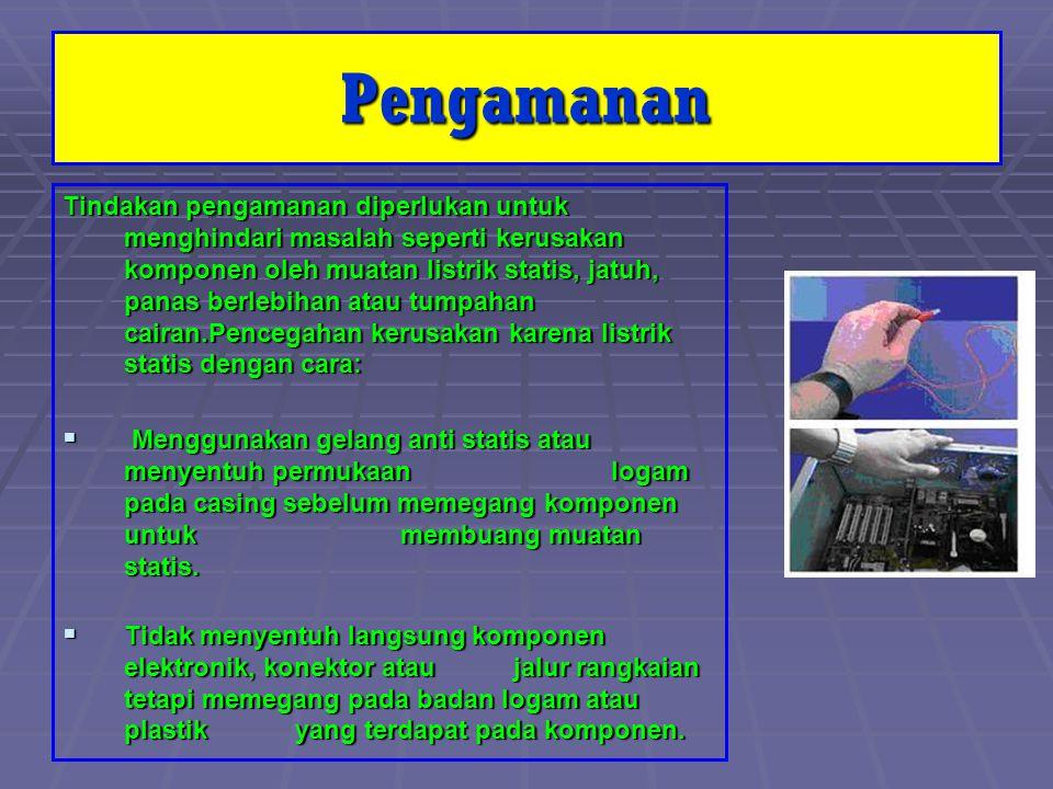 VI.Menginstall Disk Drive : 1. Cari Port FDD pada MotherBoard 2.
