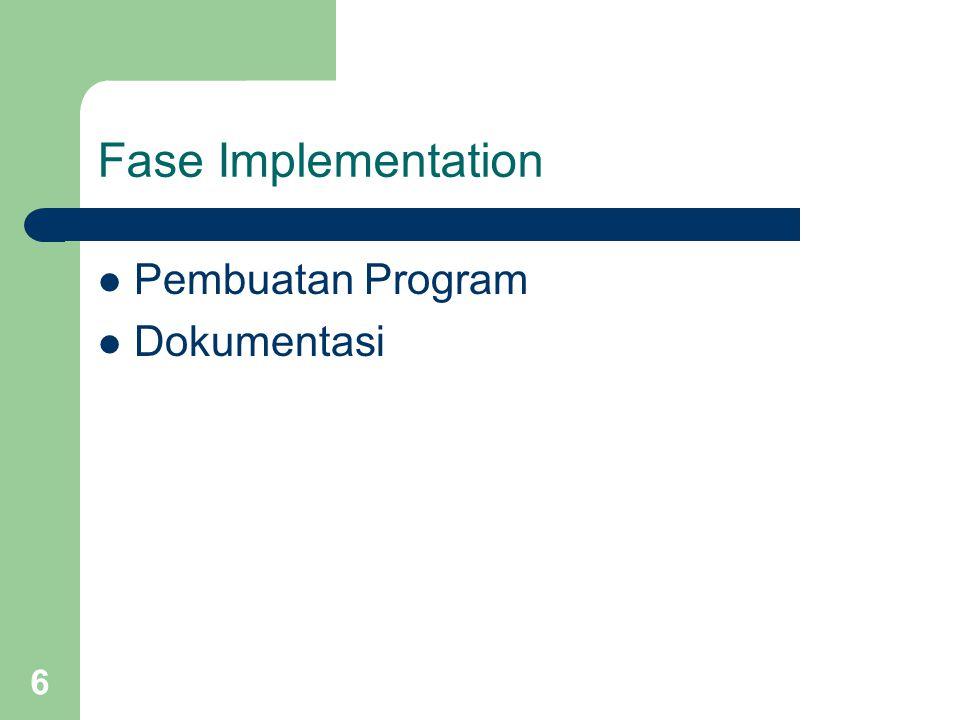 6 Fase Implementation Pembuatan Program Dokumentasi