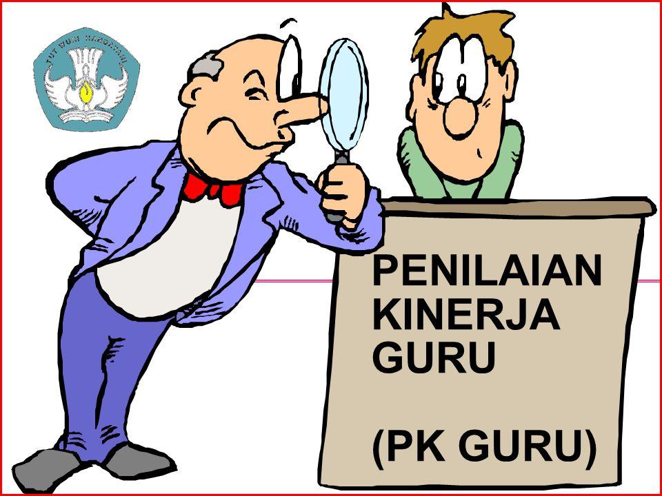 KONVERSI Karena skala penilaian berbeda, maka diperlukan konversi hasil penilaian kinerja di lapangan ke skala penilaian menurut Permenegpan No.16/2009 Konversi PK Guru ke skala nilai 0-100 sesuai Permenegpan No16/2009 menggunakan formula matematika : Nilai PKG Nilai PKG (100) = ---------------------------- x 100 Nilai PKG Tertinggi - Nilai PKG tertinggi = 56 (guru pembelajaran) dan 68 (guru bimbingan) Pusat Pengembangan Profesi Pendidik