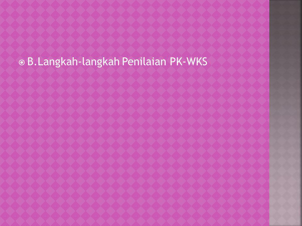  B.Langkah-langkah Penilaian PK-WKS