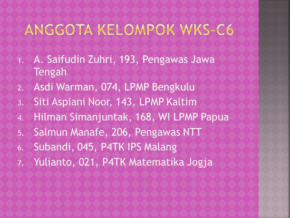 1. A. Saifudin Zuhri, 193, Pengawas Jawa Tengah 2. Asdi Warman, 074, LPMP Bengkulu 3. Siti Aspiani Noor, 143, LPMP Kaltim 4. Hilman Simanjuntak, 168,