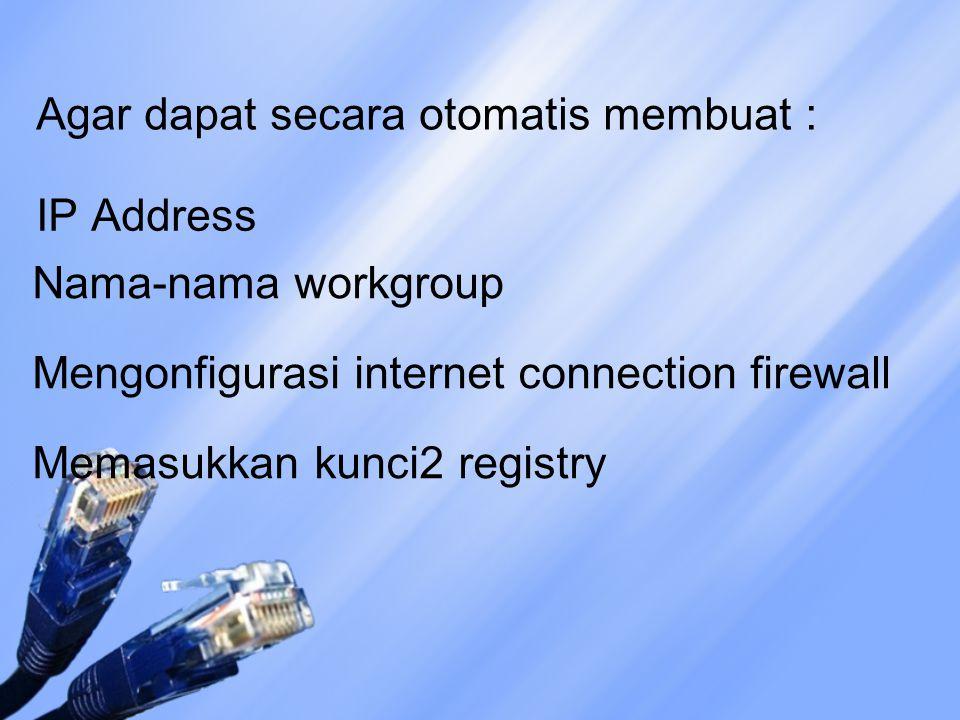 Sedangkan jaringan HomePNA disambung ke jack telepon biasa dengan konektor standar telepon (RJ-9) Jaringan wireless sesuai dengan namanya tidak memerlukan kabel.