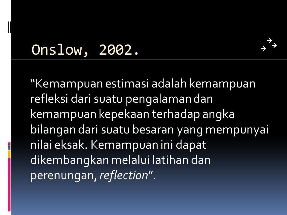 Onslow, 2002.