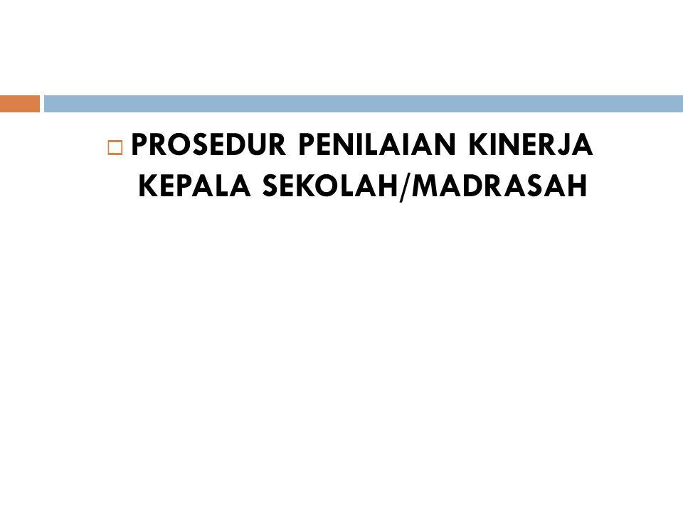  PROSEDUR PENILAIAN KINERJA KEPALA SEKOLAH/MADRASAH