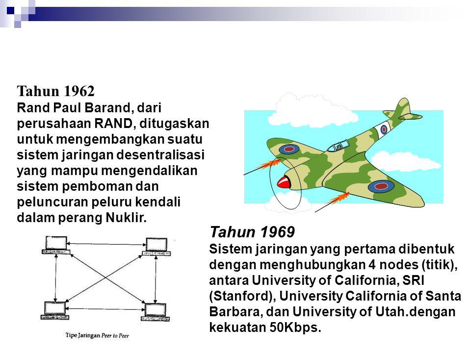 Tahun 1962 Rand Paul Barand, dari perusahaan RAND, ditugaskan untuk mengembangkan suatu sistem jaringan desentralisasi yang mampu mengendalikan sistem