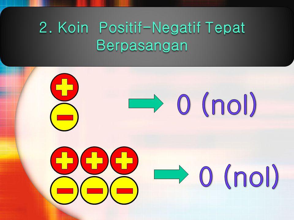2. Koin Positif-Negatif Tepat Berpasangan