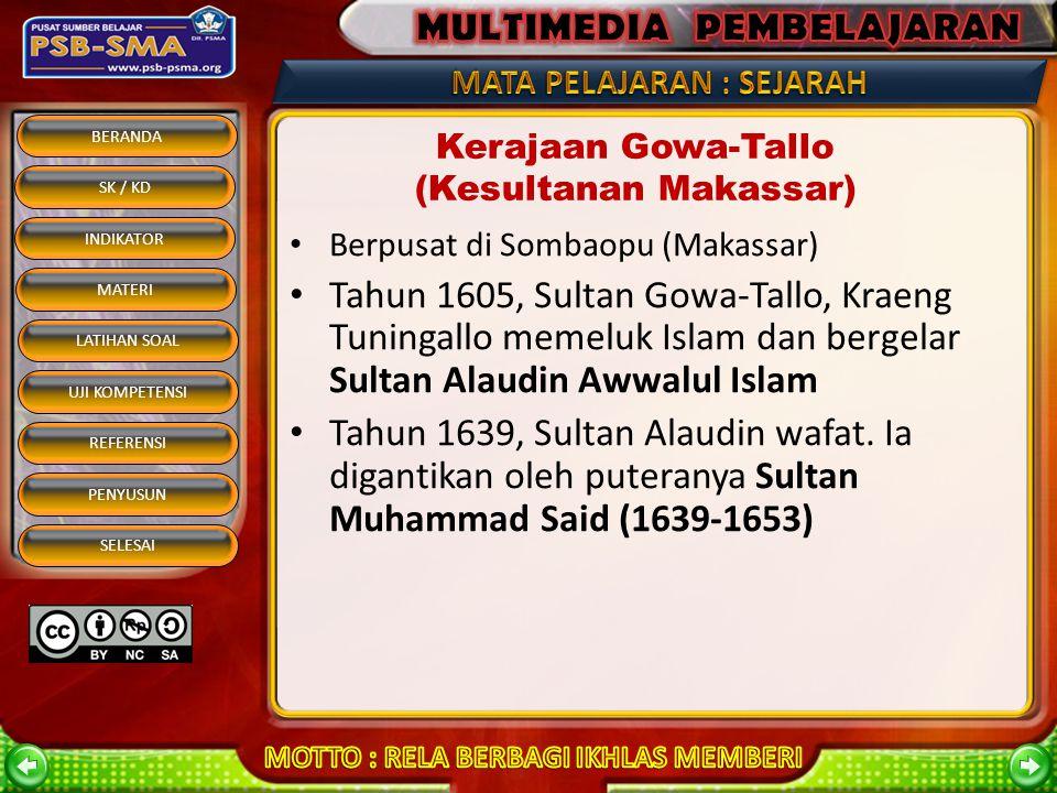 BERANDA SK / KD INDIKATOR MATERI REFERENSI PENYUSUN SELESAI LATIHAN SOAL UJI KOMPETENSI RAJA – RAJA BANTEN Sultan Hasanudin Pangeran Yusuf Maulana Muh