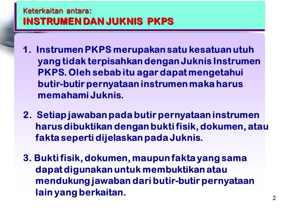 TUJUAN UMUM PELATIHAN Melalui penjelasan dan diskusi tentang materi pelaksanaan program pengawasan peserta pelatihan diharapkan dapat menjelaskan Instrumen dan Petunjuk Teknis PKPS 3