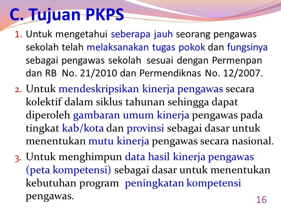 C.Tujuan PKPS 1.