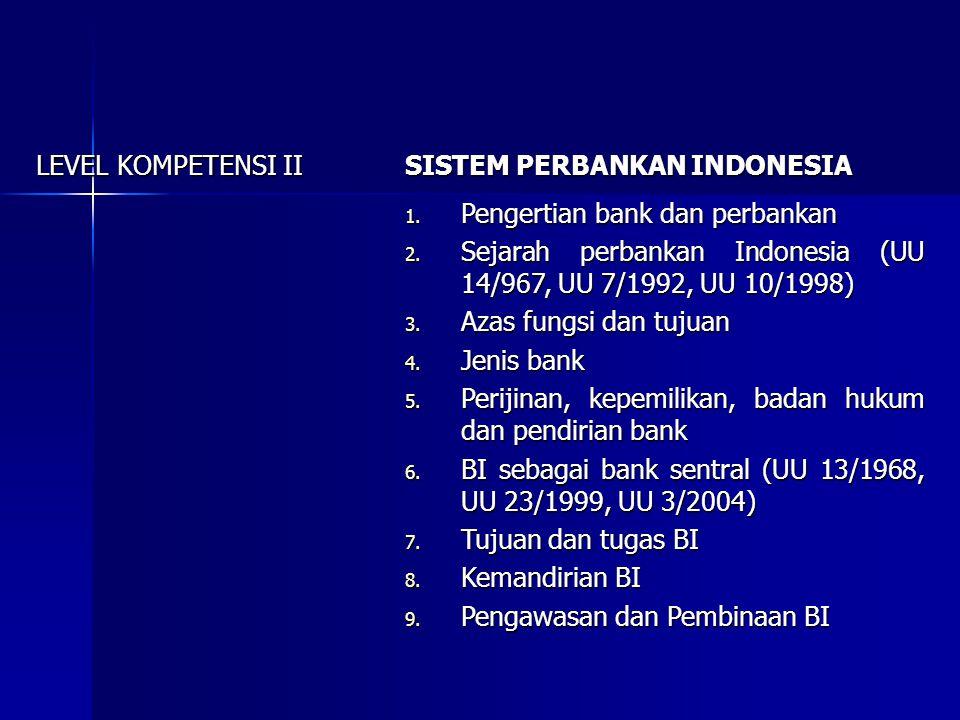 F.SUB-SUB KOMPETENSI 1. Pengertian keuangan, sistem keuangan dan lembaga keuangan 2.