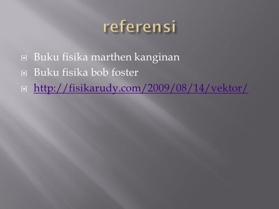  Buku fisika marthen kanginan  Buku fisika bob foster  http://fisikarudy.com/2009/08/14/vektor/ http://fisikarudy.com/2009/08/14/vektor/