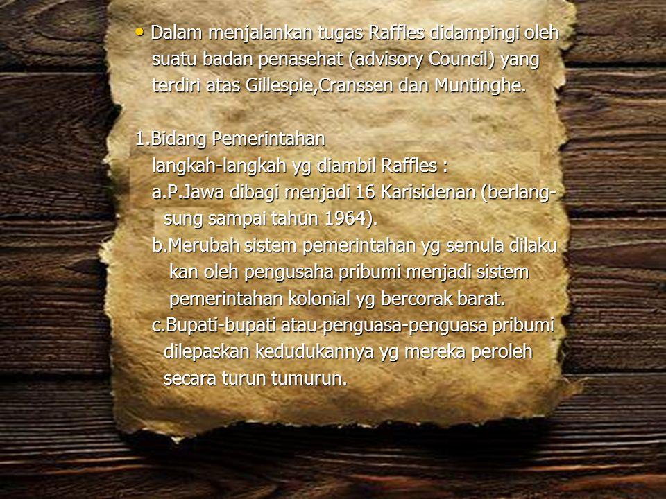 Pelaksanaan politik ekonomi liberal ditandai dengan bebe- rapa peraturan antara lain : 1).Reglement op het belied der regering in Nedherlandsh Indie (1854) : Berisi tentang tata cara pemerintahan di Indonesia.