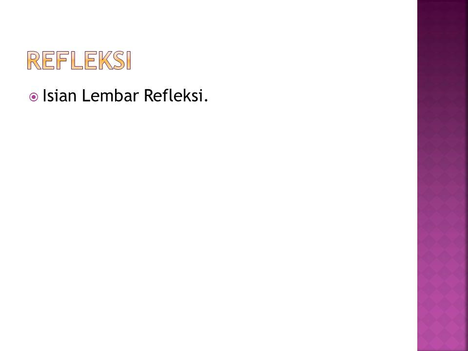  Isian Lembar Refleksi.