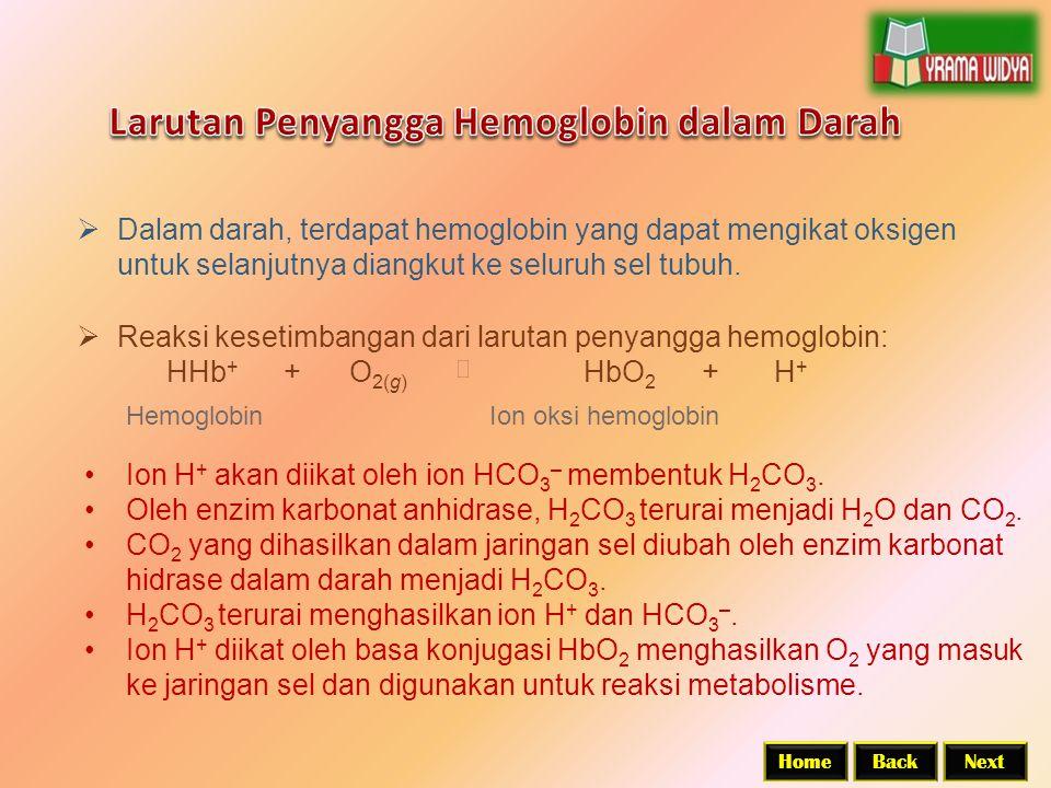 BackNextHome  Dalam darah, terdapat hemoglobin yang dapat mengikat oksigen untuk selanjutnya diangkut ke seluruh sel tubuh.