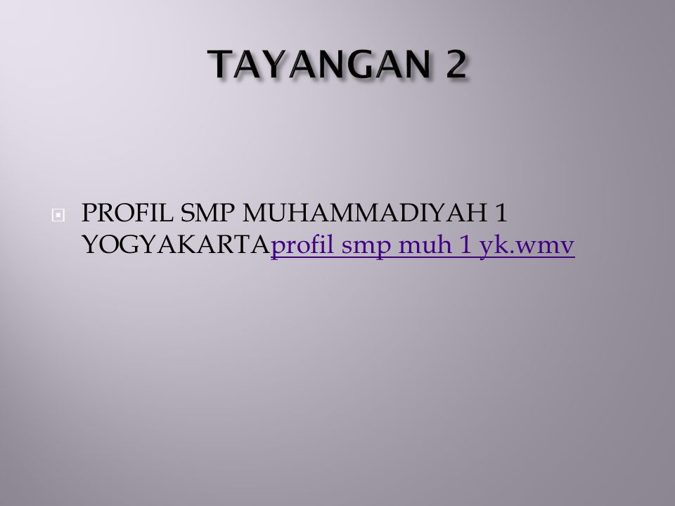  PROFIL SMP MUHAMMADIYAH 1 YOGYAKARTAprofil smp muh 1 yk.wmvprofil smp muh 1 yk.wmv