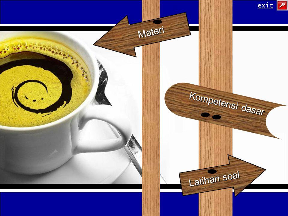 Latihan soal Latihan soal Materi Kompetensi dasar Kompetensi dasar exit