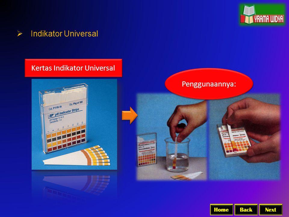 BackNextHome  Indikator Universal Penggunaannya: Kertas Indikator Universal