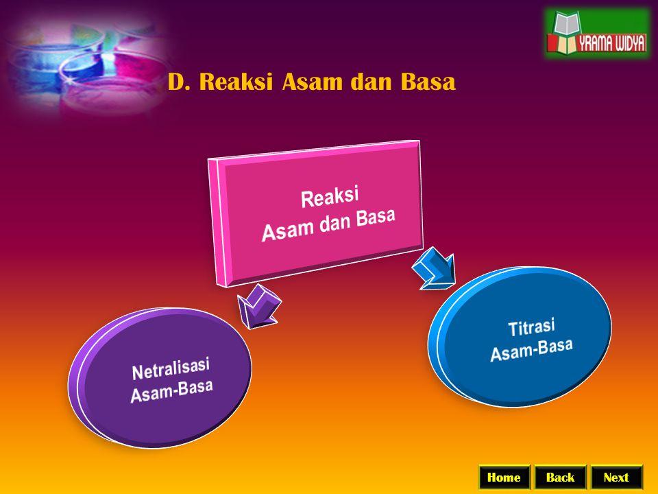 BackNextHome D. Reaksi Asam dan Basa