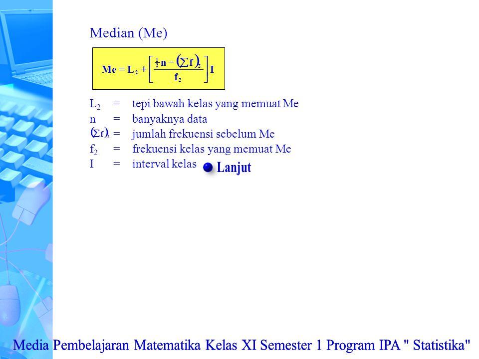 b b x Menggunakan Rataan Sementara : Simpangan Rataan    i ii f xf x Pengkodean (coding)    i ii s f xf xx I f uf xx i ii s         