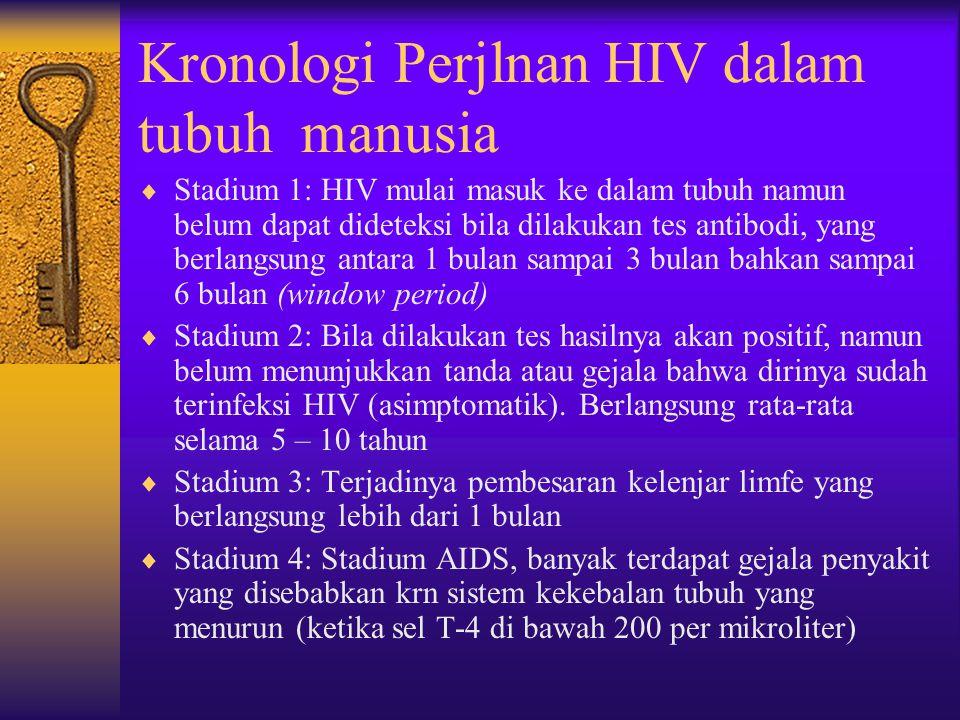 HIV tidak terdapat pada  Air kencing  Tinja  muntahan