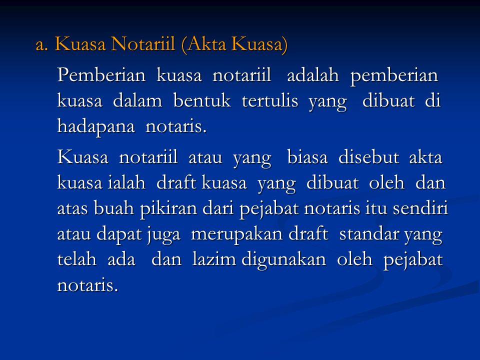 Contoh: Pada hari ini, hari Senin, tanggal 23.11.2009 (dua puluh Pada hari ini, hari Senin, tanggal 23.11.2009 (dua puluh tiga November dua ribu sembilan), pukul 15.30 WIB (lima belas lewat tiga puluh menit Waktu Indonesia Bagian Barat), menghadap kepada saya, Hariyanto Susilo, SH, Notaris, ber- tempat kedudukan di Kota Malang, dengan dihadiri oleh 2 - (dua) orang saksi akta yang saya, notaris, kenal yang identi- tasnya masing–masing akan disebut pada bagian akhir akta ini; ---------------------------------------------------------------------