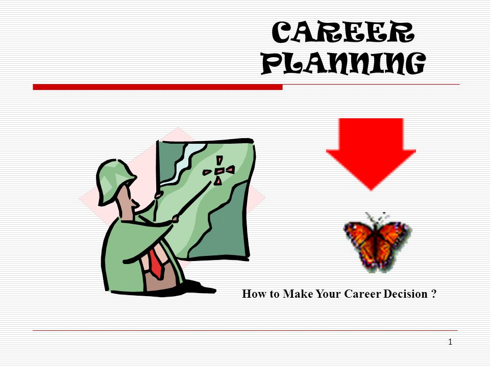 CAREER PLANNING 1 How to Make Your Career Decision