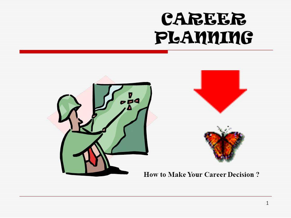 DECISION MAKING 12 Values Interests Talents Interests + Values  Bidang karir : Education, Bank, Medicine, Entrepreneur, etc.