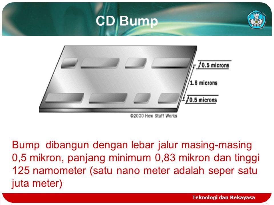 CD Bump Teknologi dan Rekayasa Bump dibangun dengan lebar jalur masing-masing 0,5 mikron, panjang minimum 0,83 mikron dan tinggi 125 namometer (satu n