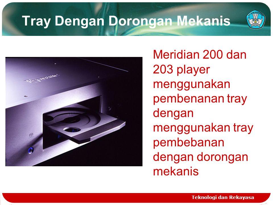 Tray Dengan Dorongan Mekanis Teknologi dan Rekayasa Meridian 200 dan 203 player menggunakan pembenanan tray dengan menggunakan tray pembebanan dengan