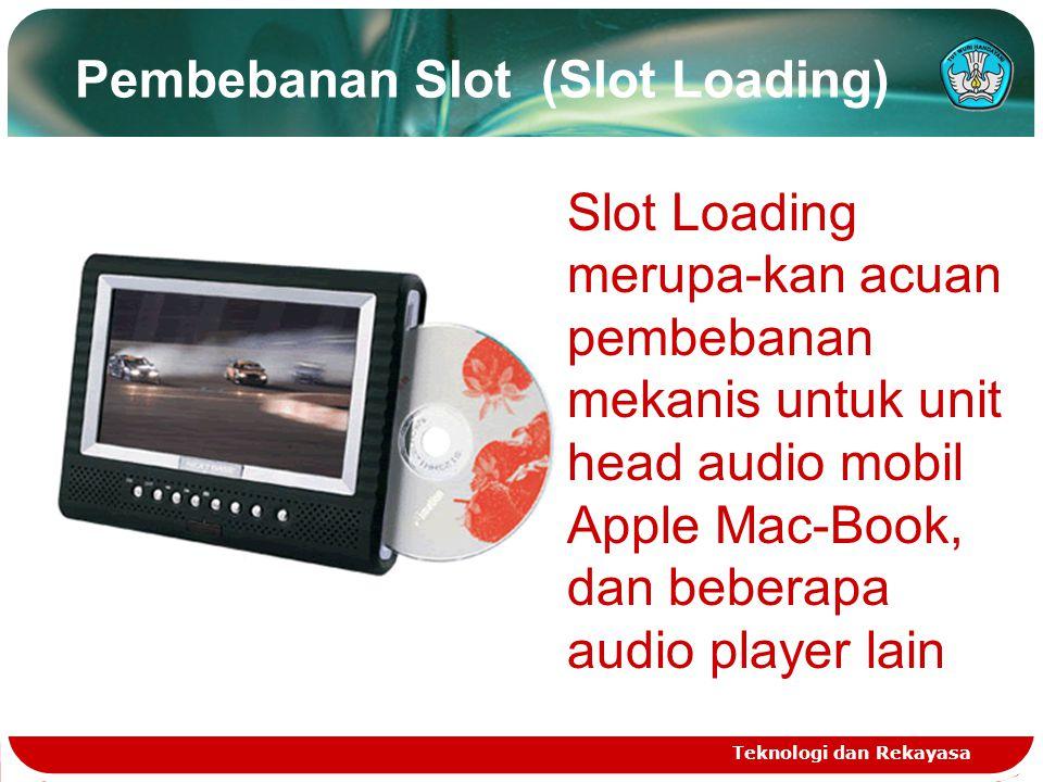 Pembebanan Slot (Slot Loading) Teknologi dan Rekayasa Slot Loading merupa-kan acuan pembebanan mekanis untuk unit head audio mobil Apple Mac-Book, dan beberapa audio player lain