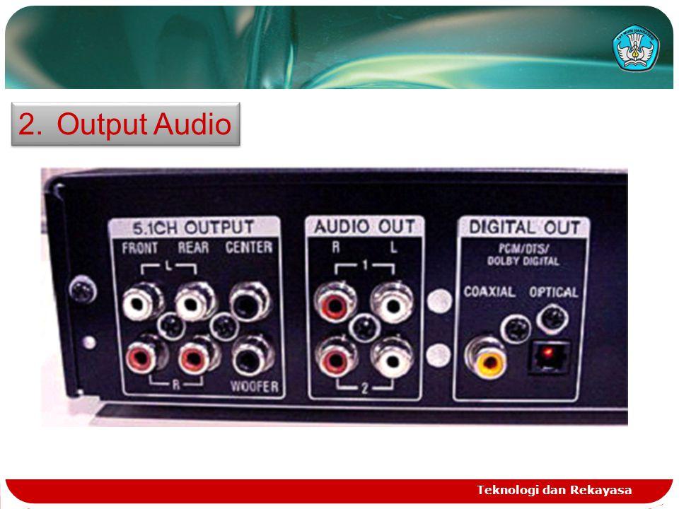 Teknologi dan Rekayasa 2.Output Audio