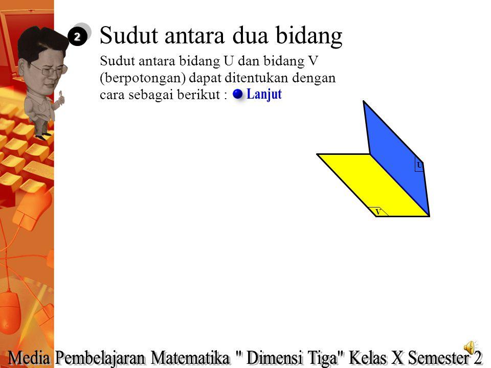 Diketahui kubus ABCD.EFGH. Titik P merupakan titik tengah EF, Q titik tengah AD, R titik tengah GH dan T titik tengah EG. Tentukan sudut antara garis