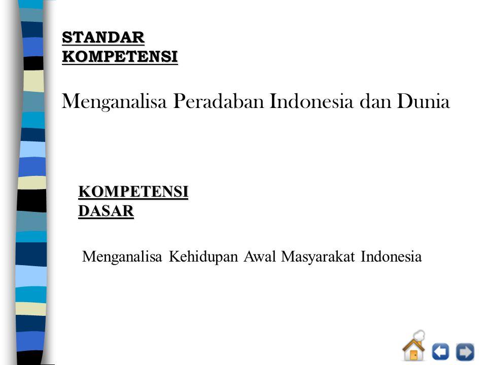INDIKATOR a.Menjelaskan pembagian zaman Prasejarah di Indonesia.