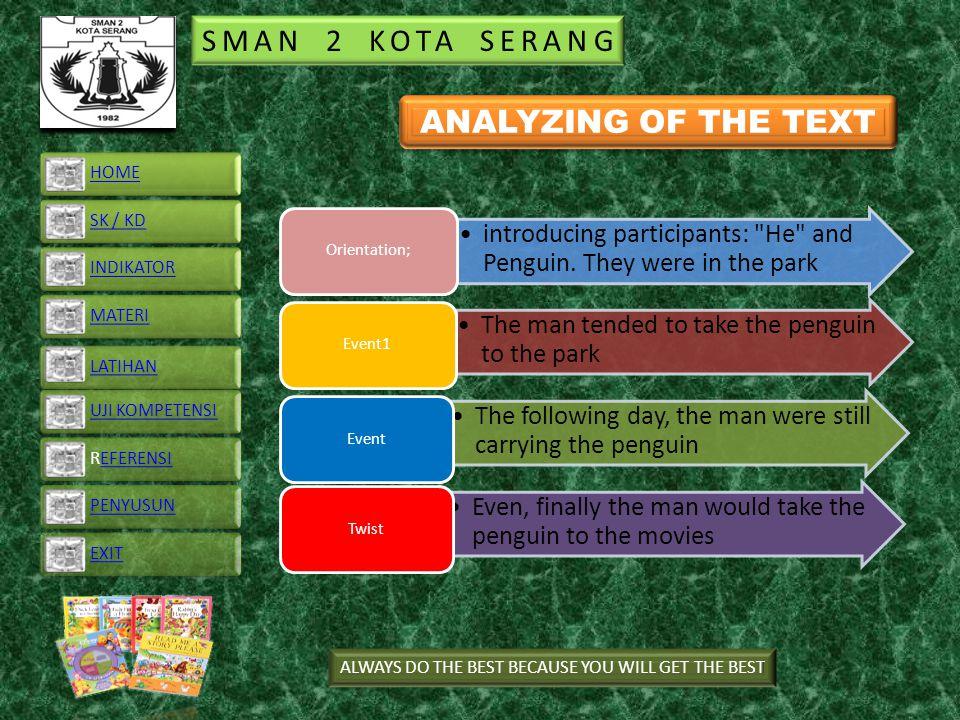 SMAN 2 KOTA SERANG introducing participants: