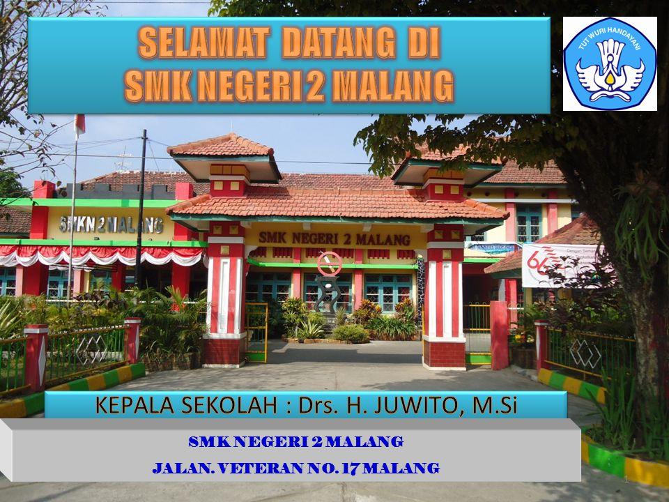 SMK NEGERI 2 MALANG JALAN. VETERAN NO. 17 MALANG 1
