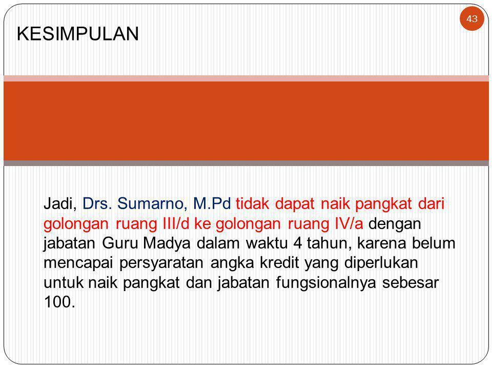 43 KESIMPULAN Jadi, Drs.