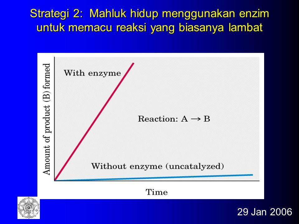 29 Jan 200611 Strategi 1: Mahluk hidup menggunakan pasangan kimia untuk mengendalikan proses kimia yang normalnya tidak dapat terjadi Fig. 1-26b