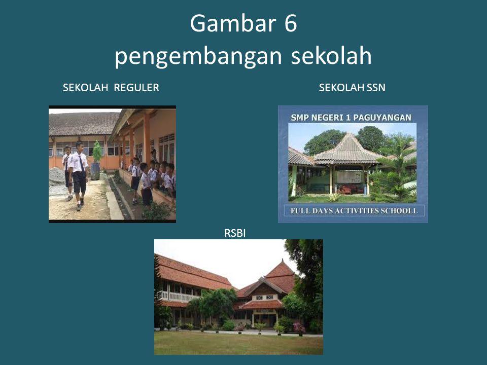 Gambar 6 pengembangan sekolah SEKOLAH REGULERSEKOLAH SSN RSBI